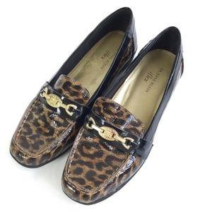 AK Anne Klein Black/Leopard IFlex Flats-Size 6